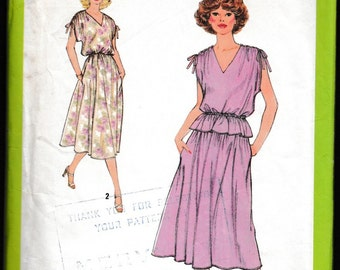 Simplicity 8856 Misses Pullover Dress or Two Piece