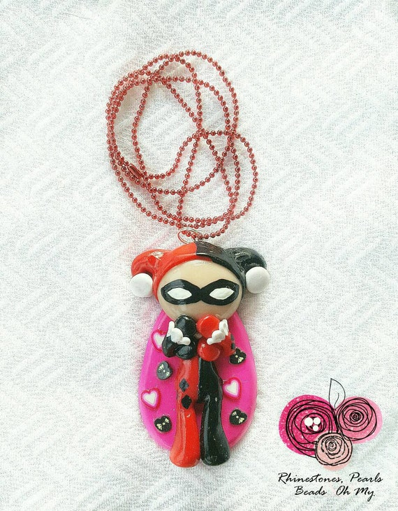 Harley quinn necklace joker necklace suicide squad for Harley quinn and joker jewelry