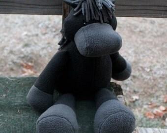 Black Plush Horse