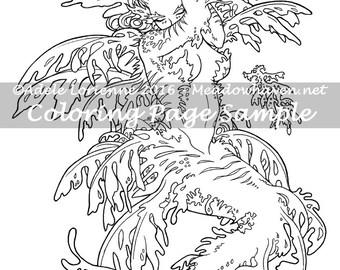 "Art of Meadowhaven Fantasy Coloring Page Download: ""Leafy Mermaid"""