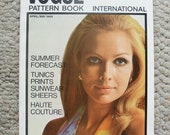 Vintage Vogue Pattern Book International April/May 1969 - 24 Intro Advertising Pages - 80 pages of High Fashion and Articles