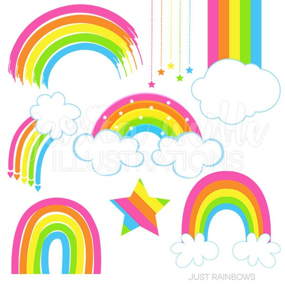 just rainbows cute digital clipart rainbow clip art rainbow rh catchmyparty com clip art rainbow tree clip art rainbow free