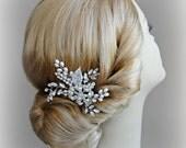 Crystal Hair Comb, Pearl Wedding Comb, Boho Bridal Comb - ASHLEY