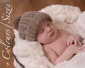 Alpaca Baby Pom-Pom Hat.  0-12 mths. Choose Your Size. Baby winter hat. Newborn Photoprop. Gender Neutral