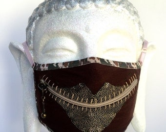 Warrior of Love zippermask for Burning Man dust and playing doctor