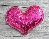 Pink Heart Hair Clip, Glitter Heart Hair Clip, Toddler Hair Clip, Girls Hair Clips, Glitter Hair Bows, Sparkly Heart Hair Clip