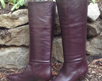 Italian Leather Ladies Boots – 1980s Hana Mackler 8 AA Never Worn In Box