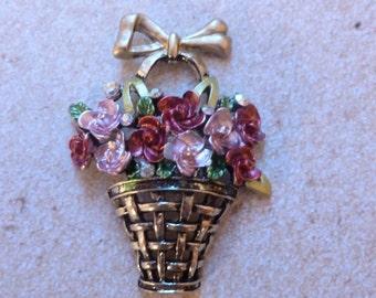 Lovely Basket of Flowers - Magnet