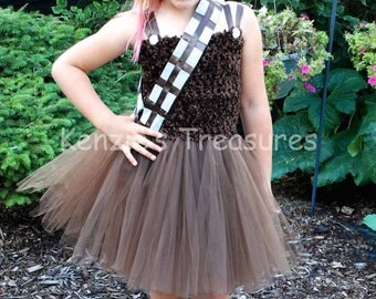 Chewbacca Tutu Dress Costume ~ Size 2T to Size 6/7
