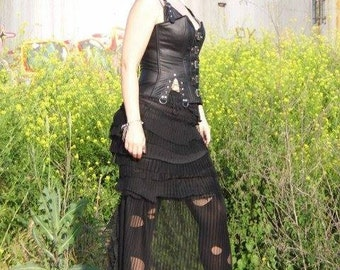 Skirt, steampunk, victorian, long skirt, goth, noire, train skirt, black steam, noire, decadence, ghost,vampire, mourning,elegance, women