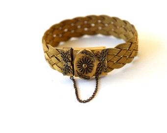 Antique Victorian Woven Mesh Bracelet c.1880s
