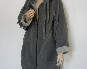 L and XL Long Hooded Sweatshirt