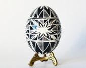 black and white home decor, home accents, black eggs, pysanka egg, chicken egg painted in black, hollow egg shells, Easter egg,decorated egg