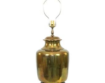 """Vintage Asian Brass Lamp by Wildwood Hollywood Regency Ginger Jar LG 12"""" diameter"""