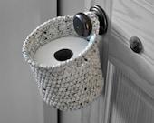 Toilet Paper Holder Space Saver Door Knob Spare Roll Basket Bathroom Decoration Rustic Home Decor Custom Colors