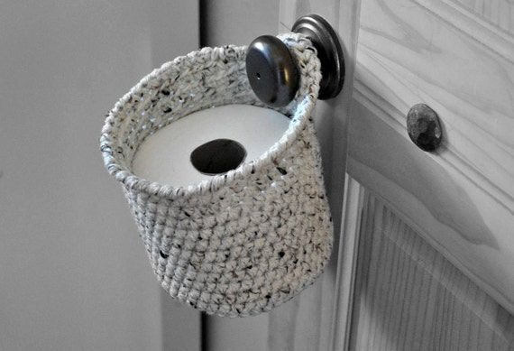 Toilet Paper Holder Space Saver Door Knob Spare Roll Basket