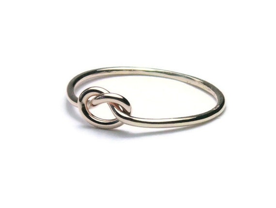 14k gold knot ring tie the knot ring thin gold ring solid 14k
