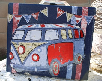 Love Bus Carry On Case by My Cozy Cottage Designs One Of A Kind Luggage Travel Storage