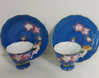 JB Betson's Japan China Espresso Cup and Saucer - set of 2