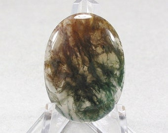 green MOSS AGATE cabochon oval 22X30mm designer cab