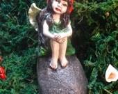 Fairy Garden, fairy garden decor, fairy garden accessories, Fairy sculpture, Garden fairy kit, fairy garden statue, I want to believe, 709