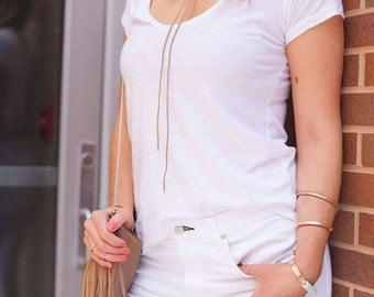 Suede Choker Necklace with Metal Ends | The Minimalist
