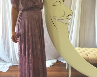 """READY MADE- Standard, 43"""" Length~ Mulberry Lace w/ Swan Lake Heather Bohemian Octopus Infinity Wrap Dress~ Cocktail, Bridesmaids, Prom, etc."""