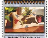 Wool Applique Pattern, Bunny Wool Applique Pin Cushion, Primitive Gatherings, PATTERN ONLY