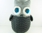 Giant Hand Knit Owl