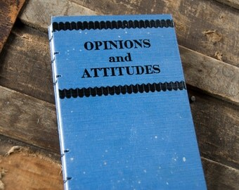 1934 OPINIONS and ATTITUDES Vintage Lined Notebook