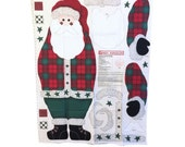 1997 Daisy Kingdom Santa Door Panel Christmas Fabric Cut & Sew Fabric Panel Rustic Santa, Christmas Material, Santa Material, Holiday Fabric