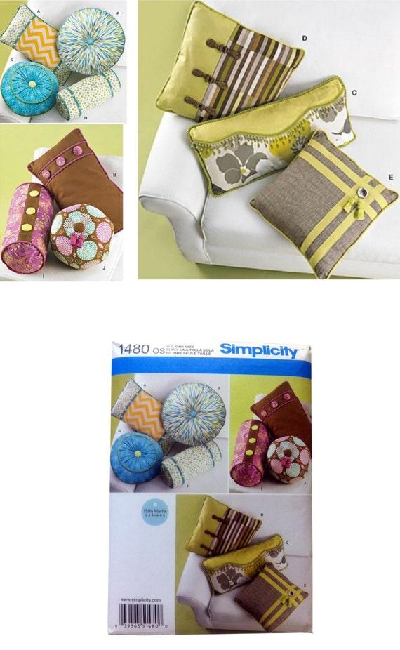 Decorative Neck Roll Pillow Pattern : Simplicity 1480 Decorative Pillow Pattern Neck Roll Pattern