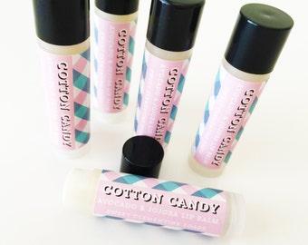 Cotton Candy Lip Balm - Moisturizing Avocado and Jojoba Oil Lip Balm