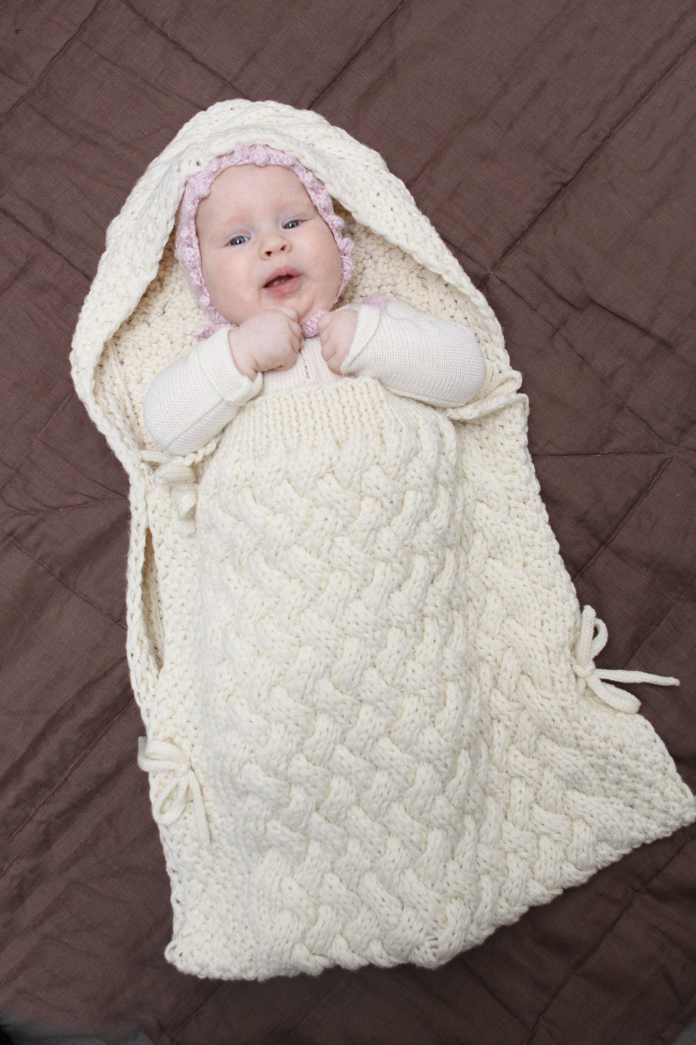 Baby Gift Sack : Baby sleeping bag cocoon gift for new shower cable