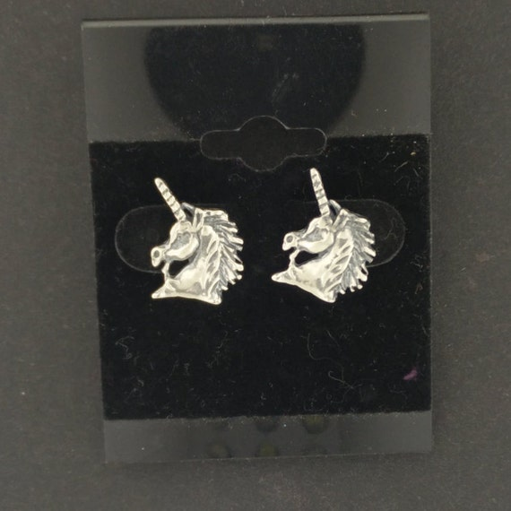 Unicorn Head Earrings made to order in gold