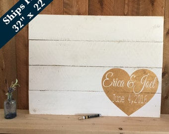 Wedding Guest Book Alternative - Wedding  Decor Signs Rustic - Wedding Signage - Personalized Wedding Sign - Pallet Sign - Guestbook