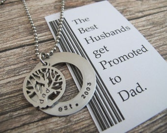 2017 First time dad Gift| Personalized |Tree Of Life Necklace | New dad Quote | New dad Gift| Fathers day | 1st fathers day gift