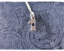 Silver Hole in One Necklace - Sterling Silver Hole in One Charm on a Delicate Sterling Silver Cable Chain or Charm Only