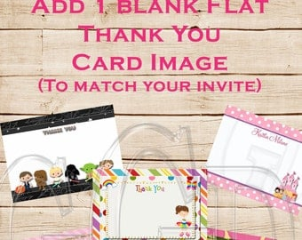 Add a  BLANK Thank You image-Digital File
