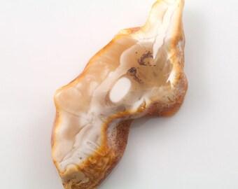Natural Baltic Amber cabochon - irregular cabochon milky (12)