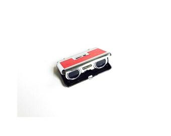 Red Vintage Folding Binoculars / Opera Glasses