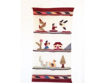 Vintage Peruvian String Wall Hanging