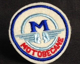 Motobecane vintage sew on patch. Retro biker supply.