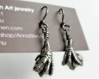 Silver bird claws earrings game of thrones