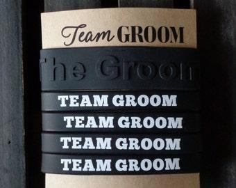 Team Groom,  Weddings, Bachelor Party, Wristbands, Black, The Groom, ON SALE
