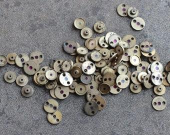 Wrist Watch Case parts -- small brass disc -- D2