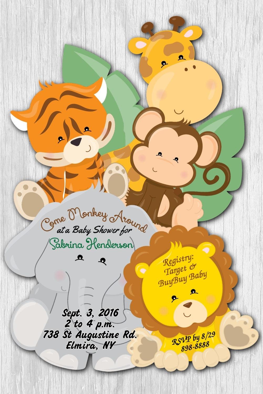 Animal Safari Themed Baby Shower - Pretty My Party - Party ... |Safari Animal Baby Shower Favors