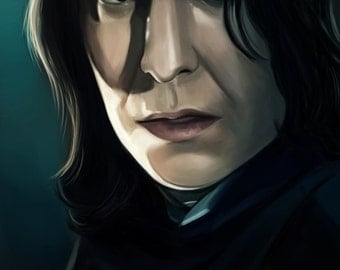 Alan Rickman as Severus Snape Artprint