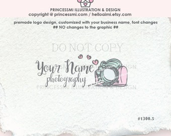 1300-5 photography logo, whimsical camera logo, doodle camera logo, sketch camera logo photography watermark by princessmi