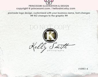 1003-4  Simple, basic, handwritten font logo, Initials logo design, premade photography logo business watermark